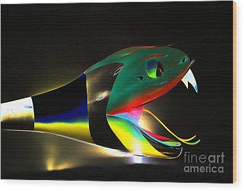 Lady Gaga Snake II Wood Print by Chuck Kuhn