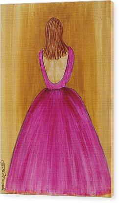 Lady In Pink 4536 Wood Print by Jessie Meier