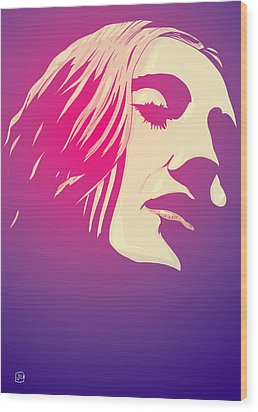 Lady In The Light Wood Print by Giuseppe Cristiano