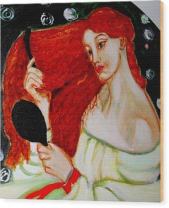 Lady Lilith Wood Print by Rusty Woodward Gladdish