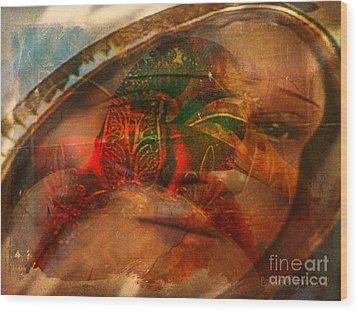 Lady Of Faith Wood Print by Fania Simon