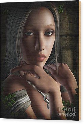 Lady Of Shalot Wood Print