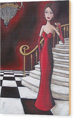 Lady Of The House Wood Print by Denise Daffara