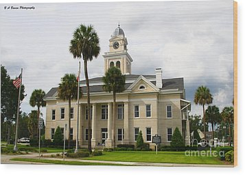 Lafayette County Courthouse Wood Print by Barbara Bowen