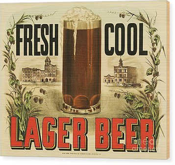 Lager Beer Wood Print by Pg Reproductions