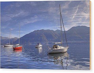 Lago Maggiore Wood Print by Joana Kruse