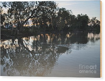 Lagoon At Dusk Wood Print by Joanne Kocwin
