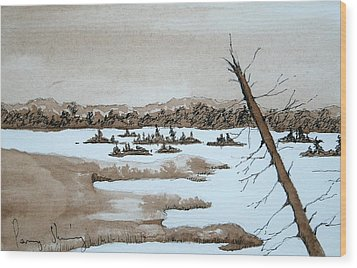 Lagoon On Madeline Island Wood Print