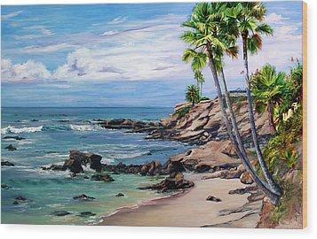 Laguna Beach Wood Print by Lisa Reinhardt