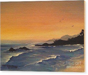 Laguna Sunset Wood Print by Barbara Gilroy