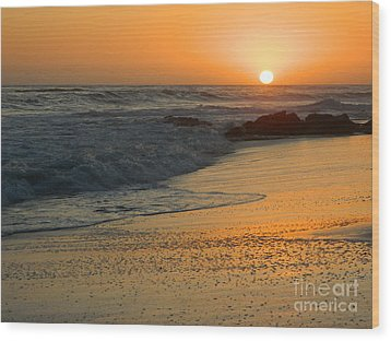 Wood Print featuring the photograph Laguna Sunset by Everette McMahan jr