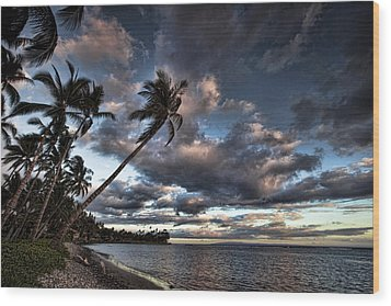 Lahaina Evening Wood Print by James Roemmling