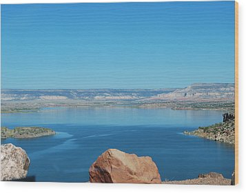 Wood Print featuring the photograph Lake Abiquiu by William Wyckoff