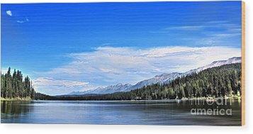 Lake Alva Wood Print by Janie Johnson