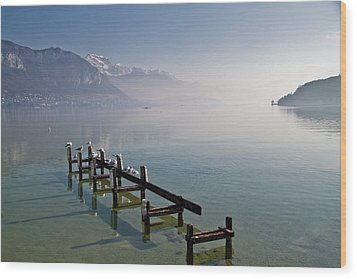 Lake Annecy (lac D'annecy) Wood Print by Harri's Photography