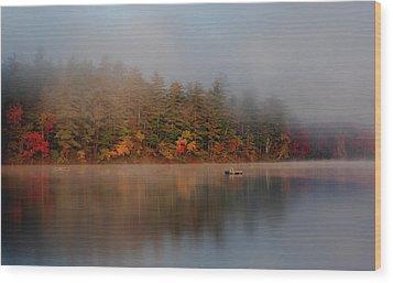 Wood Print featuring the photograph Lake Chocorua Sunrise by Nancy De Flon