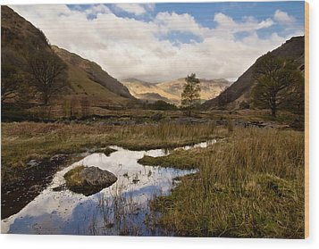 Wood Print featuring the photograph Lake District Reflections by Justin Albrecht