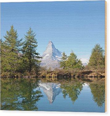 Lake Grindjisee Wood Print by Monica and Michael Sweet