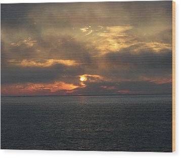 Lake Huron Sunset 3 Wood Print