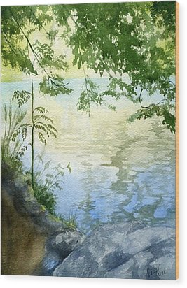 Lake Impression 2 Wood Print