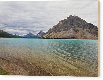 Lake In The Canadian Rockies Wood Print by George Oze