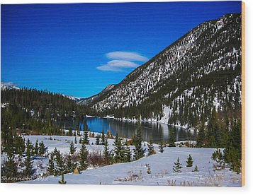 Wood Print featuring the photograph Lake In The Mountains by Shannon Harrington