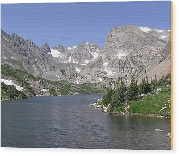 Lake Isabelle And The Continental Divide Wood Print