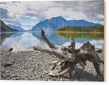 Lake Kathleen In Kluane National Park Wood Print by Blake Kent