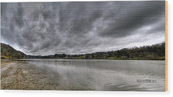 Wood Print featuring the photograph Lake Logan Panorama by Brian Stevens