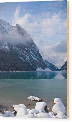 Lake Louise  Canada Wood Print by Serene Maisey