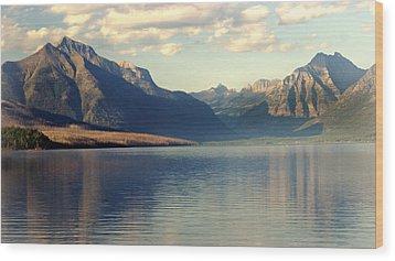 Lake Mcdonald At Sunset Wood Print by Marty Koch