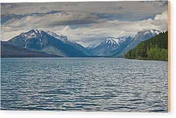 Lake Mcdonald Upon Storm Clearing Wood Print