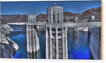 Lake Mead Hoover Dam Wood Print