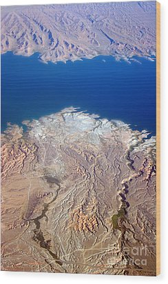 Lake Mead Nevada Aerial Wood Print by James BO  Insogna