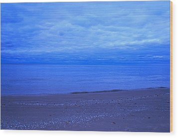 Lake Michigan Wood Print by Kristine Bogdanovich