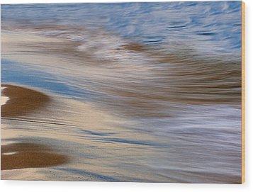 Lake Michigan Surf Wood Print by Dean Pennala