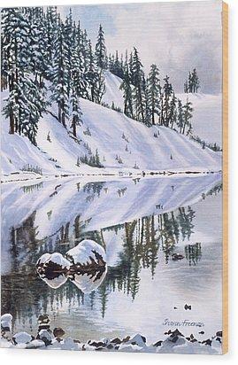 Lake Moraine Oregon Wood Print by Sharon Freeman