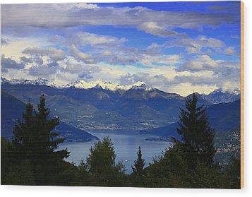 Lake Of Como View Wood Print