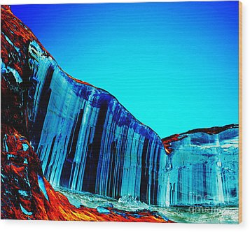 Lake Powell Blue Ice Wood Print