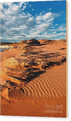 Lake Powell Morning Clouds Wood Print by Thomas R Fletcher