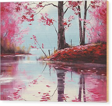 Lake Reflections Wood Print by Graham Gercken