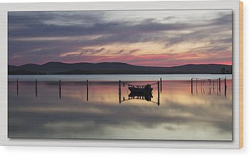 Wood Print featuring the digital art Lake Rgb 01 by Kevin Chippindall