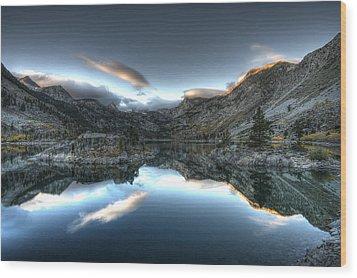 Lake Sabrina Bishop Ca Wood Print by Joe  Palermo