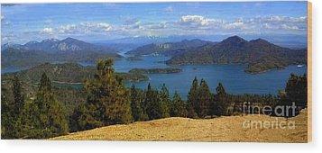 Lake Shasta Wood Print by Garnett  Jaeger