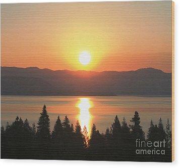 Lake Tahoe Sunrise Wood Print by Anne Raczkowski