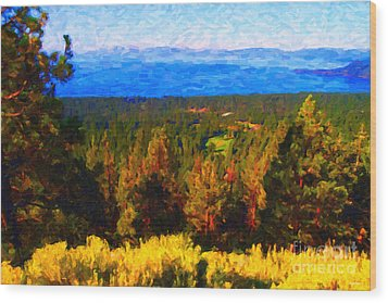 Lake Tahoe Wood Print by Wingsdomain Art and Photography