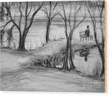 Wood Print featuring the photograph Lake Watcher by Gretchen Allen