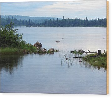 Wood Print featuring the mixed media Lake West Of Wawa by Bruce Ritchie