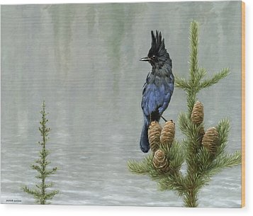 Lakeside Bandit Wood Print