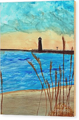 Lakeside Luxury Wood Print